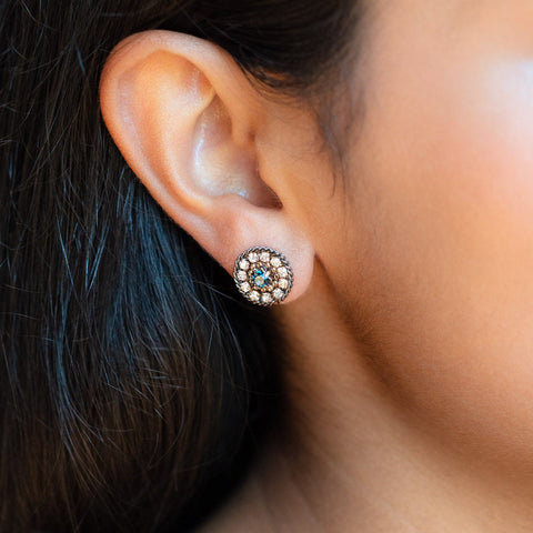 Odyssey Stud Earrings in Midnight statement stud earrings