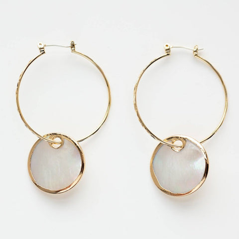 mirage hoop earrings unique dainty hoops yellow gold pearl earrings