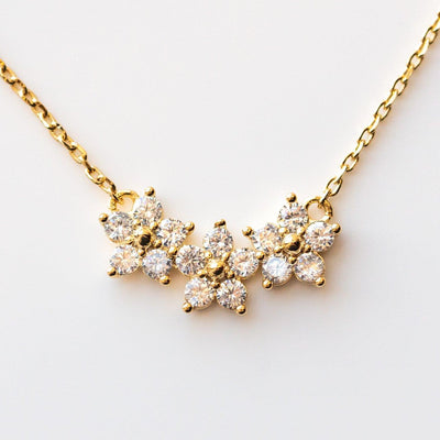 Blossom Necklace in Gold floral yellow gold dainty jewelry