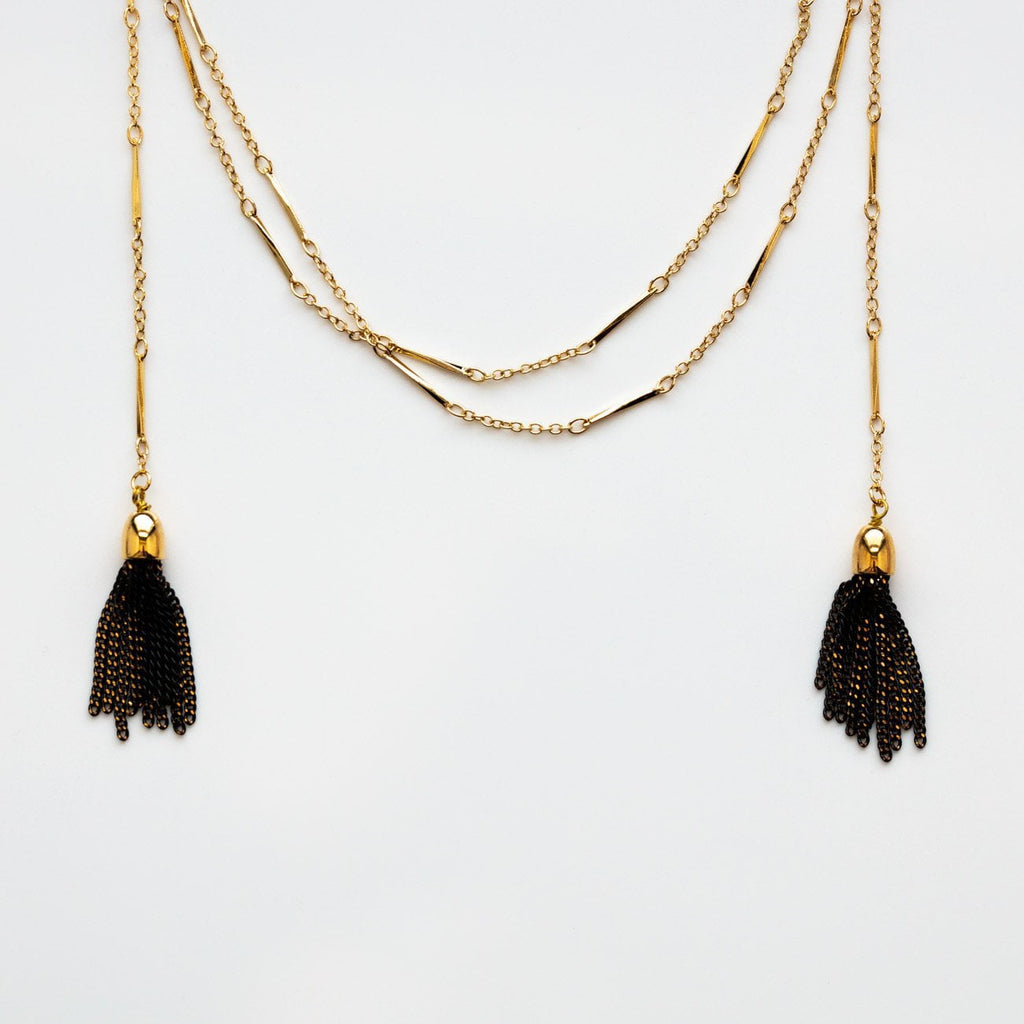 Deja Vu Necklace in Black