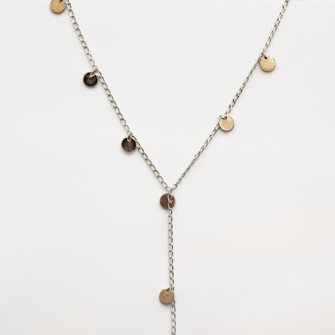 Silver Lining Lariat Necklace