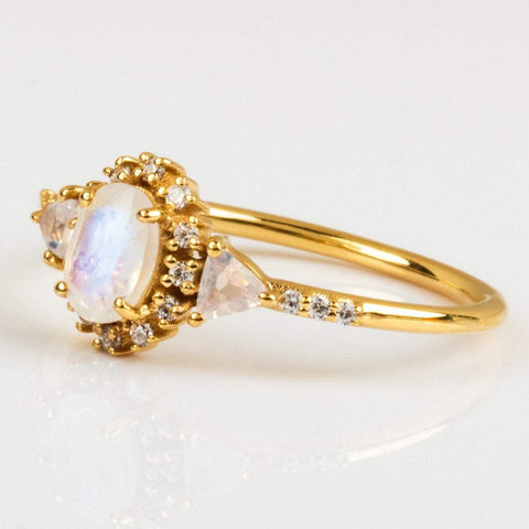 Day Tripper Ring with Moonstone