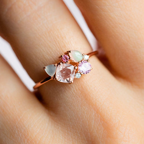 Lucy in the Sky Ring with Morganite