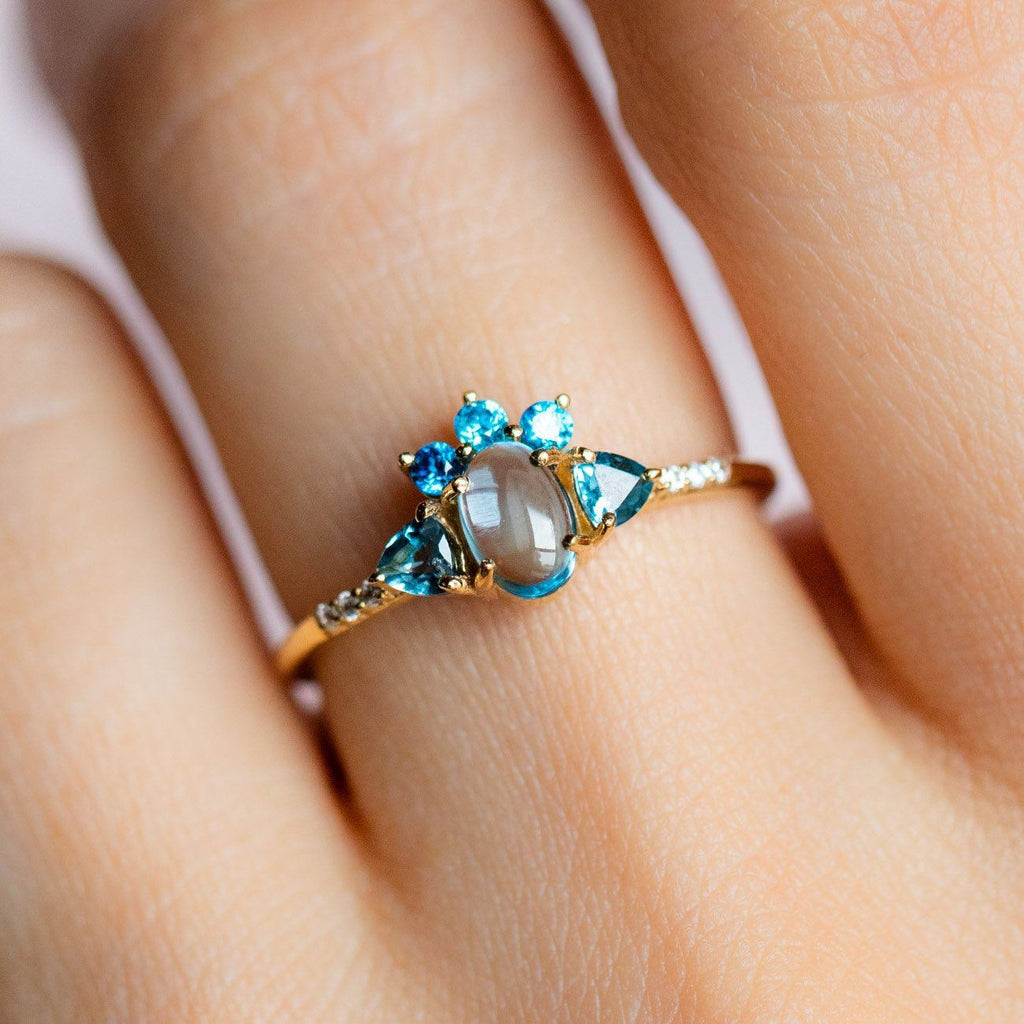 Blue Dream Ring with Blue Topaz