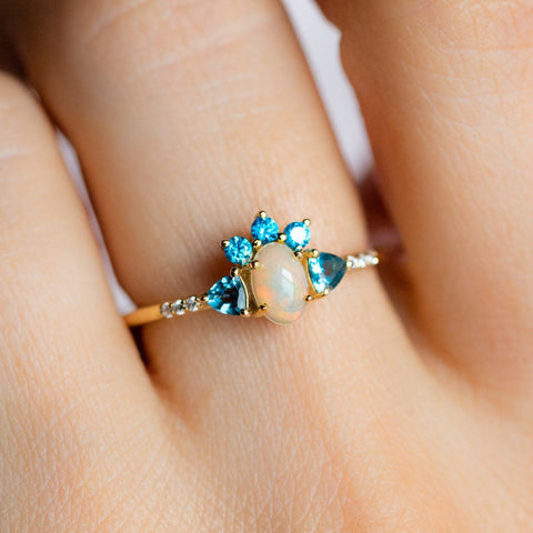 Summer Daze Ring with Opal