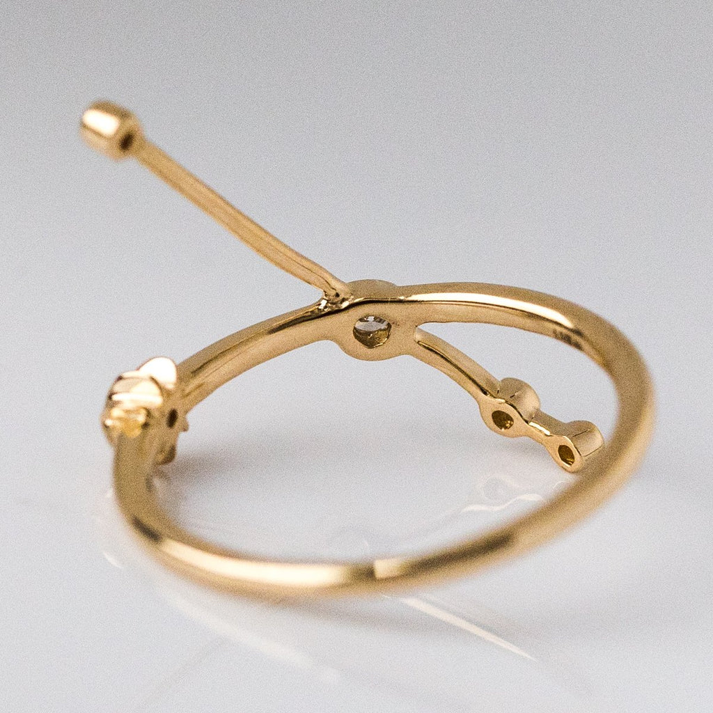 14K Gold Aries Ring with Diamonds - rings - Lulu Frost local eclectic