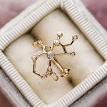 14K Gold Sagittarius Ring with Diamonds - rings - Lulu Frost local eclectic