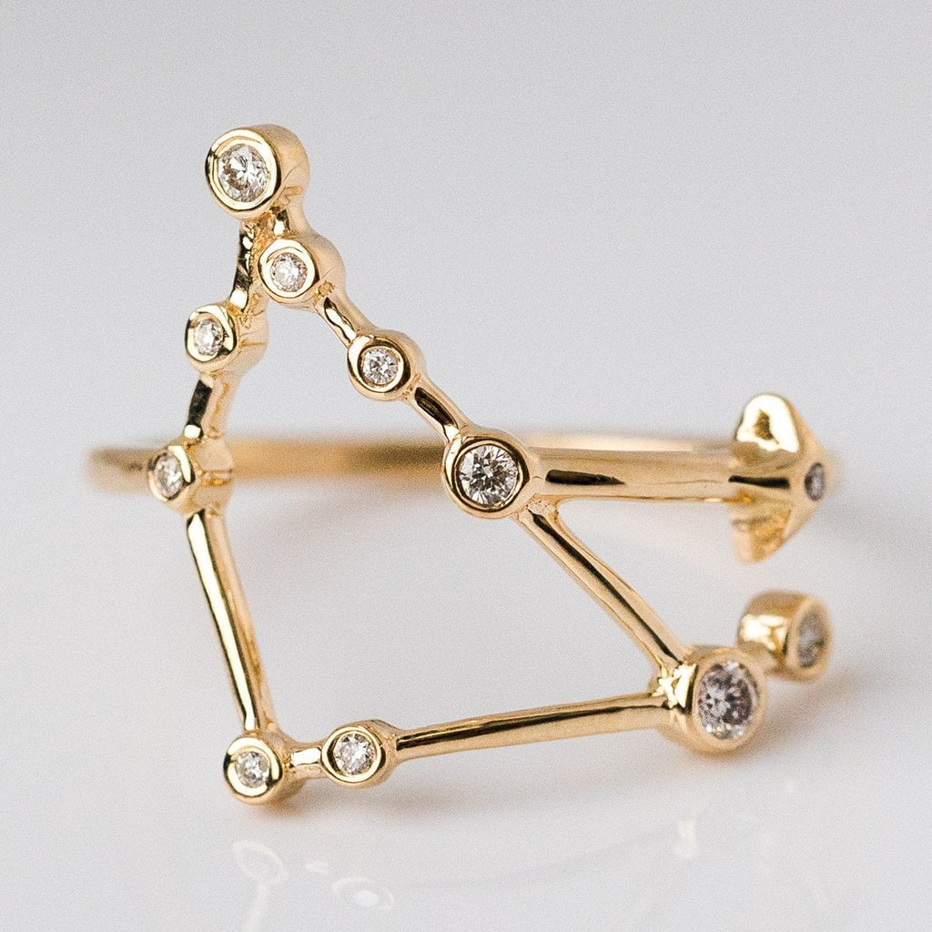 14K Gold Constellation Ring with Diamonds - rings - Lulu Frost local eclectic