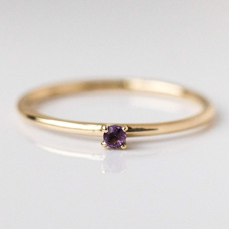 february birthstone ring, fine birthstone ring, amethyst birthstone ring