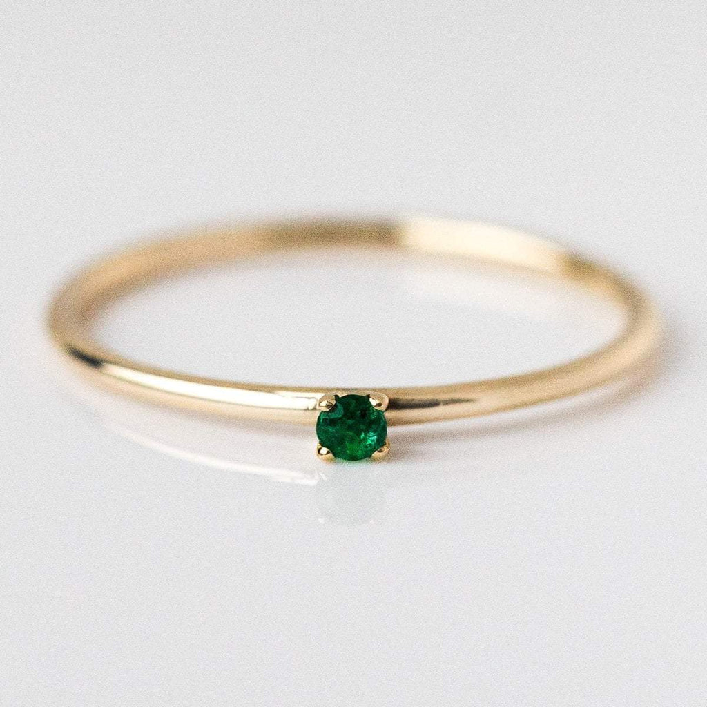 emerald birthstone ring, fine birthstone ring, may birthstone ring