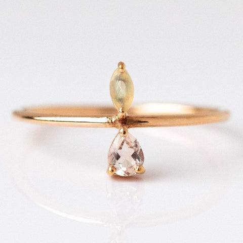 Floating Teardrop Ring