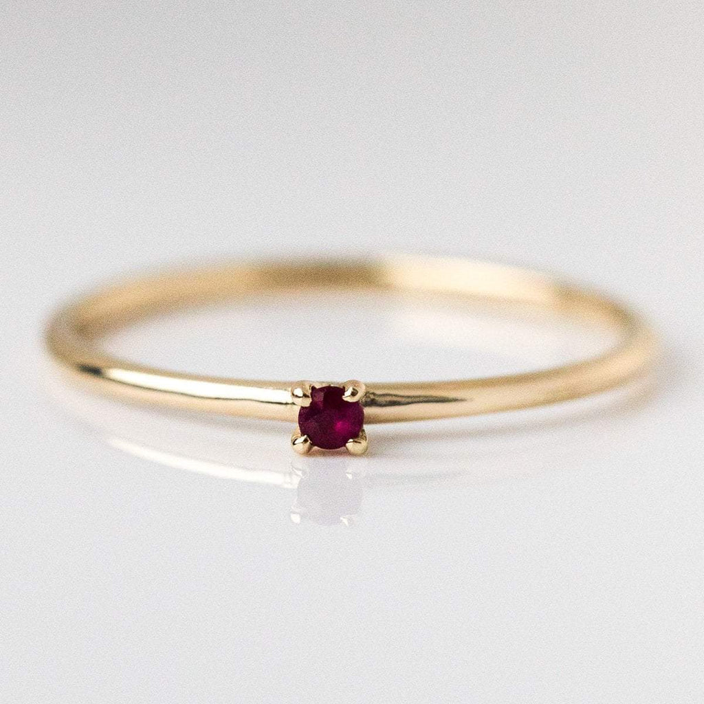 july birthstone ring, fine birthstone ring, ruby birthstone ring