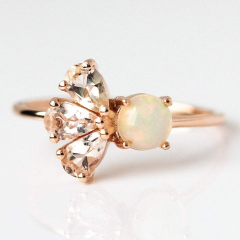 Luck Be a Lady Morganite & Opal Ring