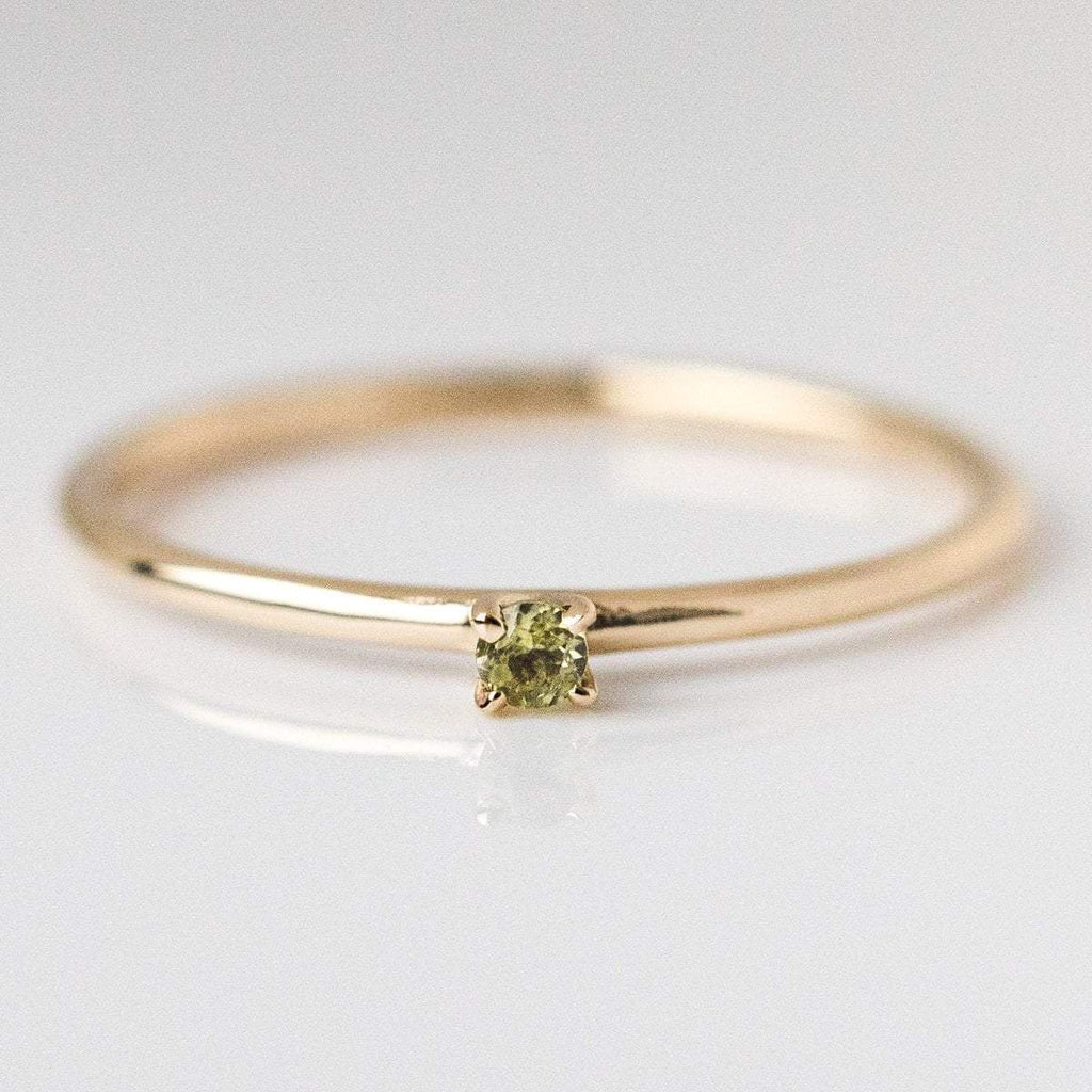 august birthstone ring, fine birthstone ring, peridot birthstone ring