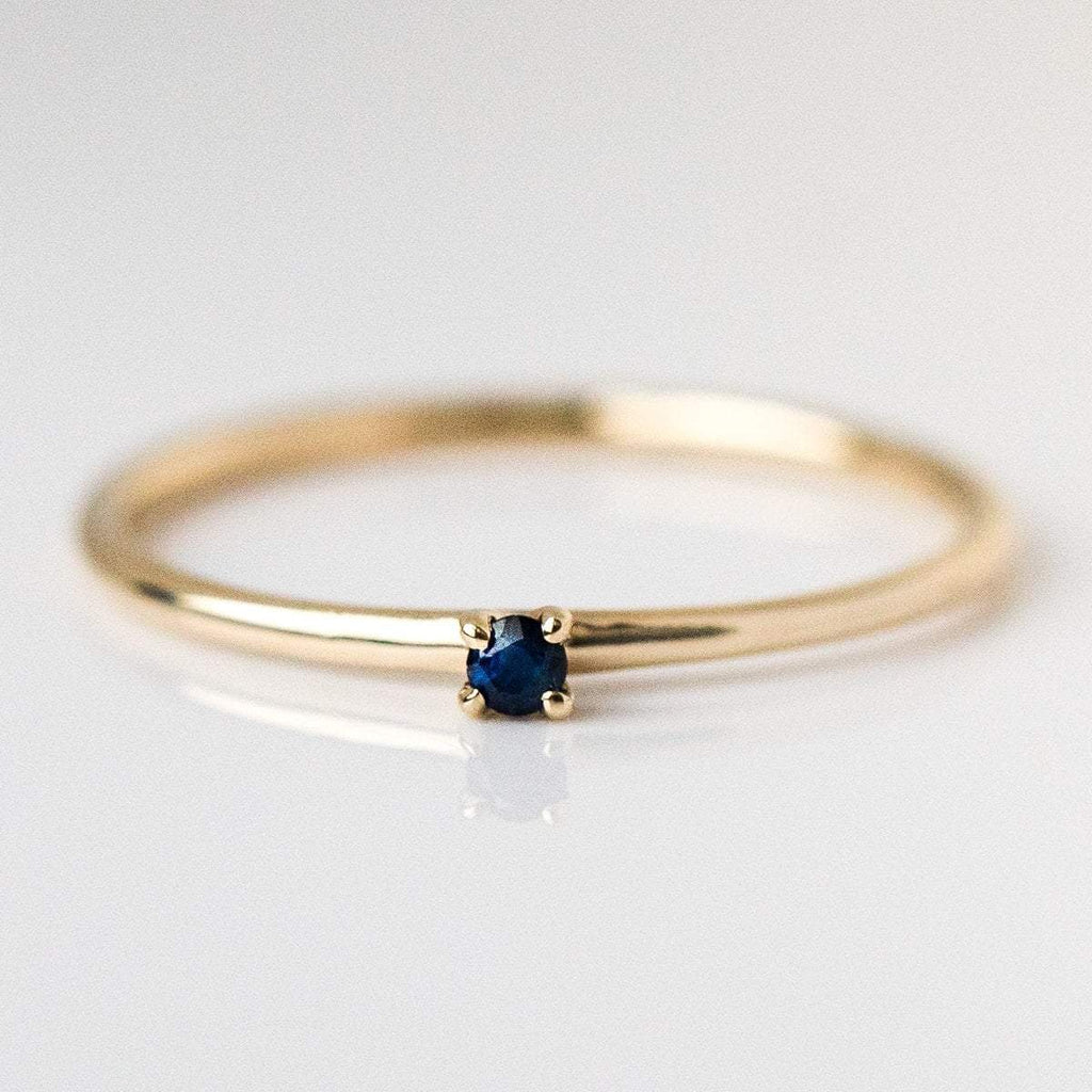 september birthstone ring, fine birthstone ring, sapphire birthstone ring