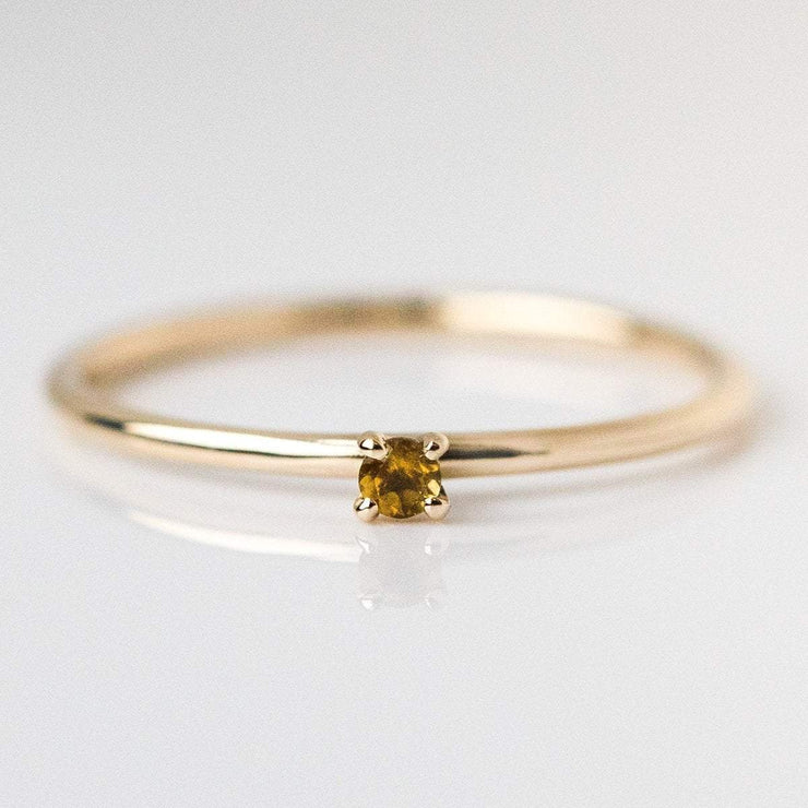 november birthstone ring, fine birthstone ring, citrine birthstone ring