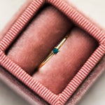 Simple Turquoise Birthstone Layering Ring - rings - Lust & Luster local eclectic