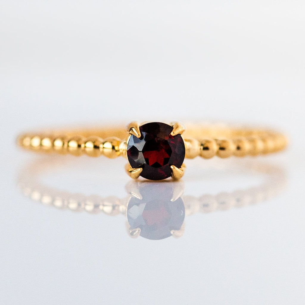 January Birthstone ring, Garnet ring