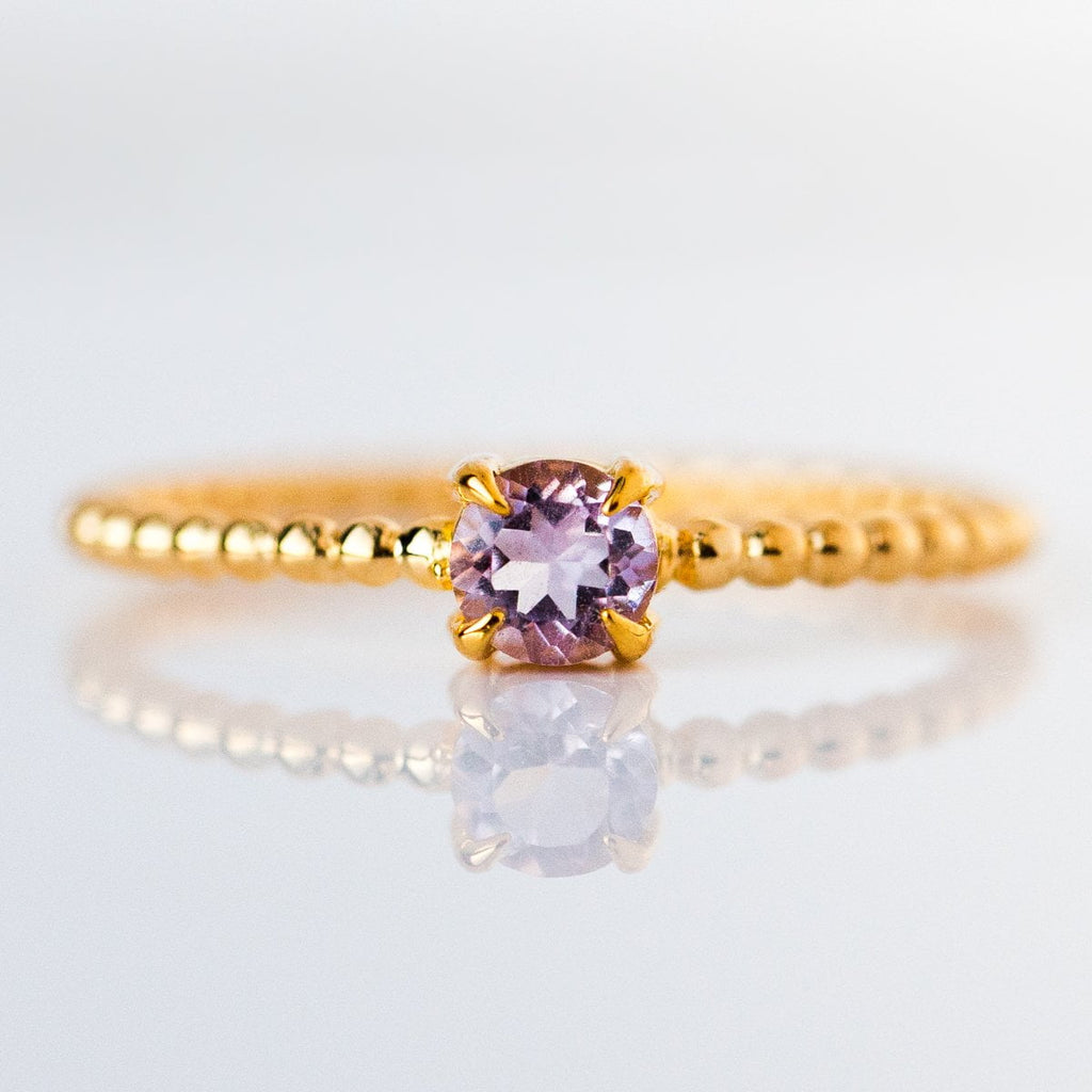 amethyst birthstone ring, february birthstone ring