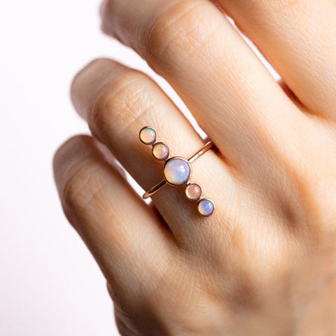 To The Moon & Back Opal Ring