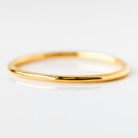 A simple band from local eclectic in rose gold, silver, and yellow gold