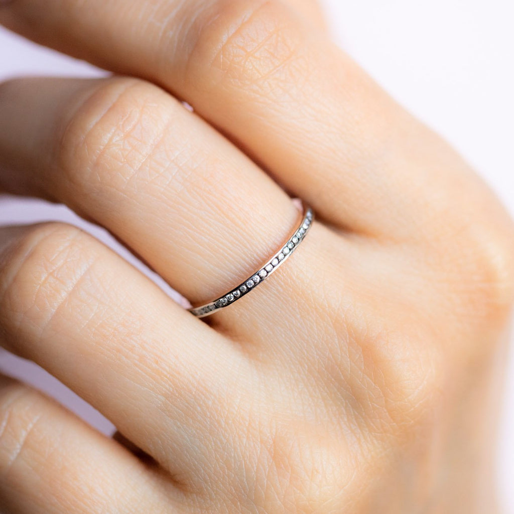 Simple Gold Band with Diamonds