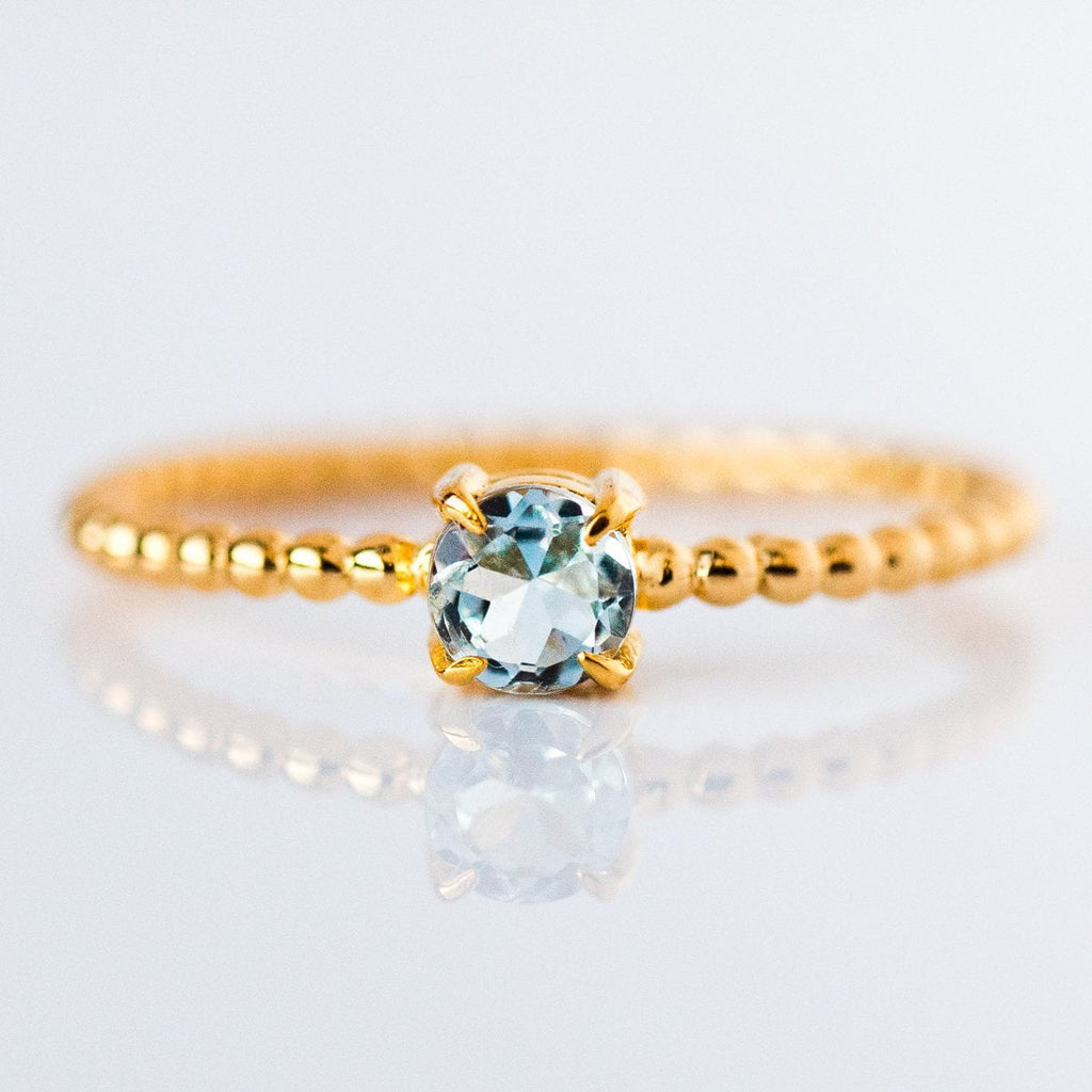 march birthstone ring, aquamarine birthstone jewelry gift