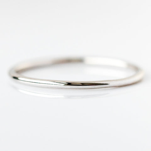 Twiggy's Simple White Gold Band - rings - Lust & Luster local eclectic