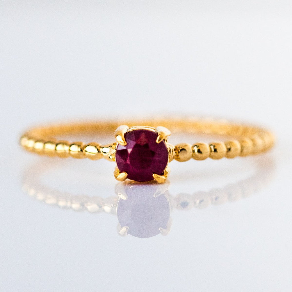 july birthstone ring, ruby birthstone ring