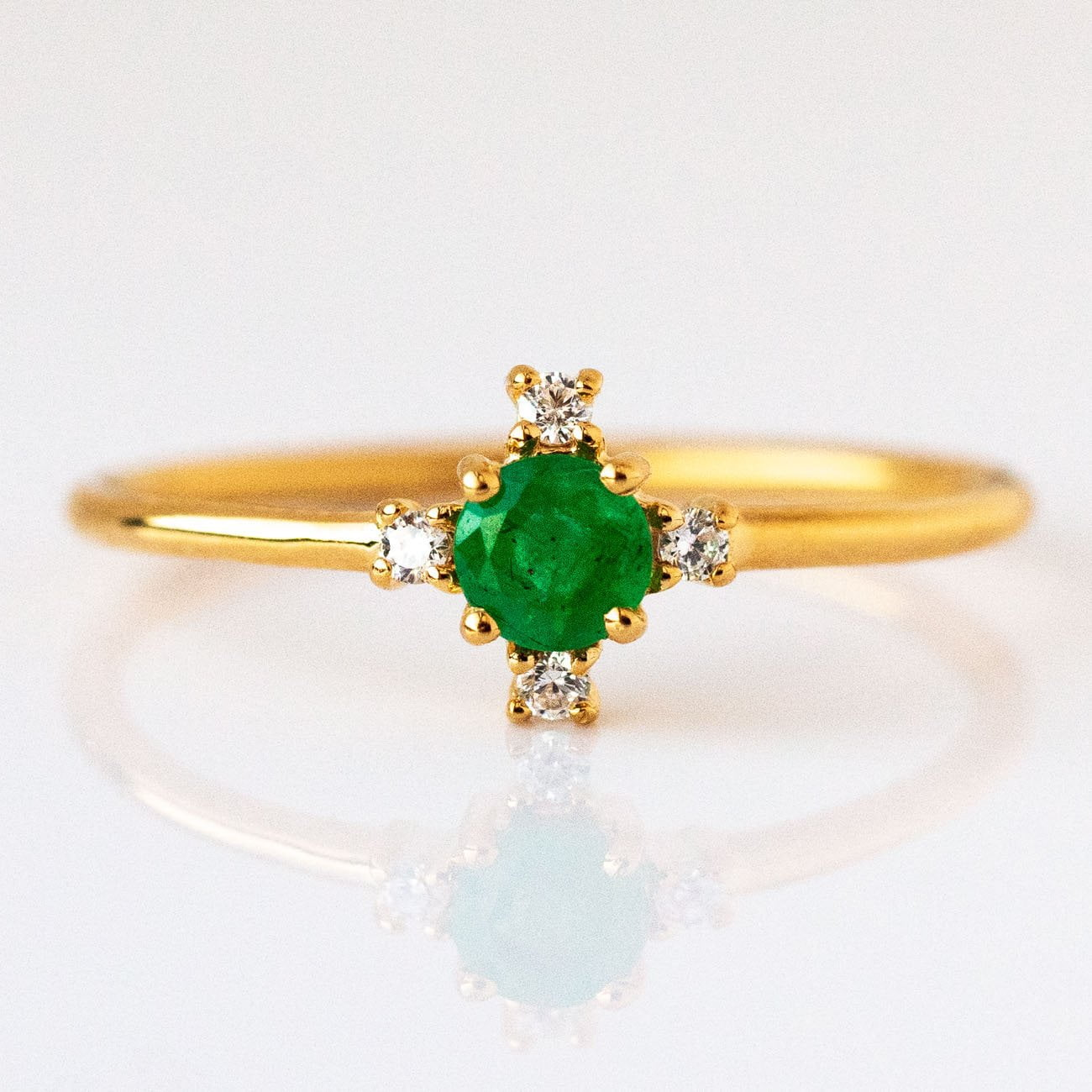 Local Eclectic My Guiding Light Emerald Ring