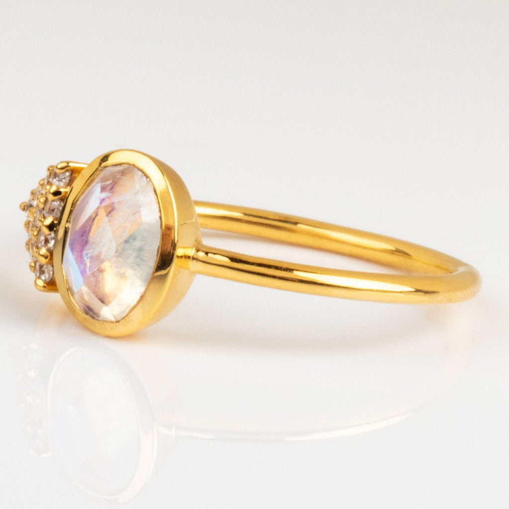 Modern Love Moonstone Ring