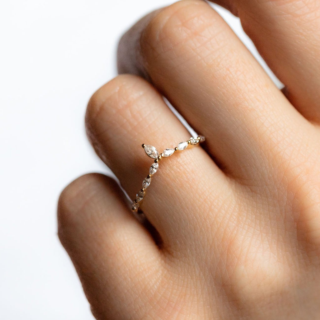 Twinkling Marquise CZ Stacking Ring