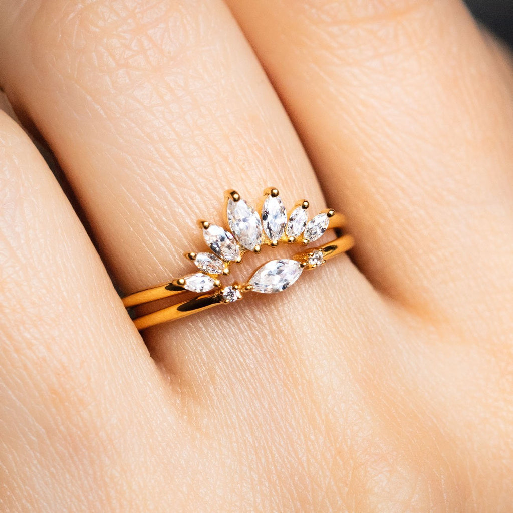 Delicate Marquise CZ Friendship Ring
