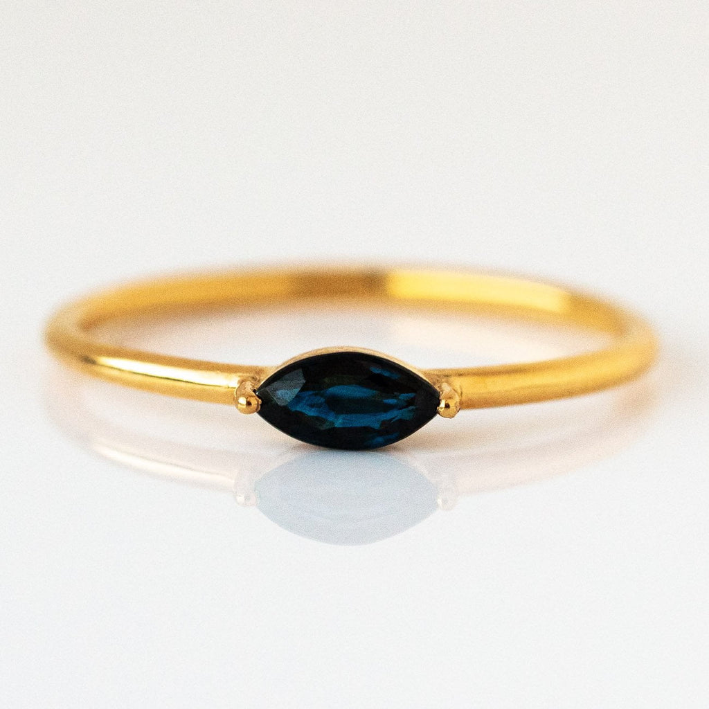 After Midnight Sapphire Marquise Ring