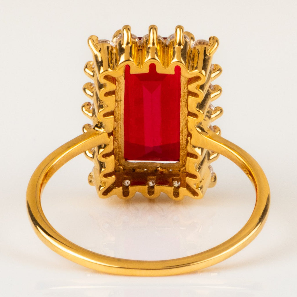 ruby doublet statement cocktail ring bellagio cz unique jewelry