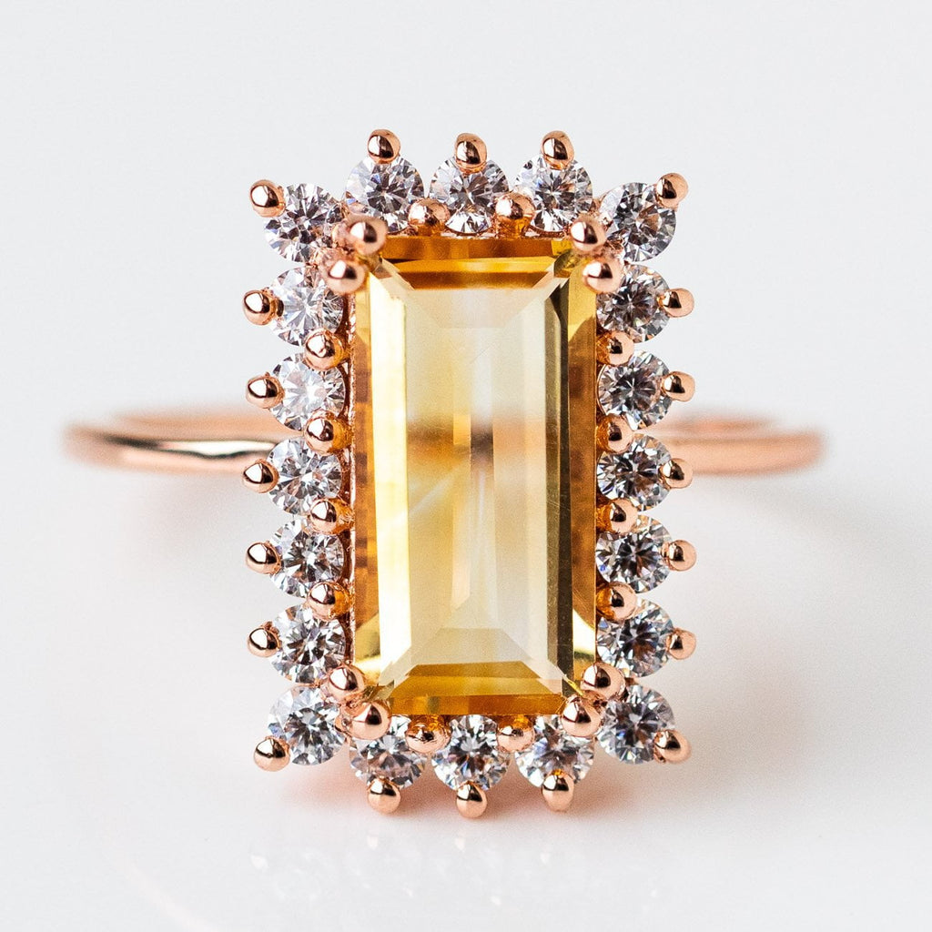 citrine doublet statement cocktail ring bellagio cz unique jewelry