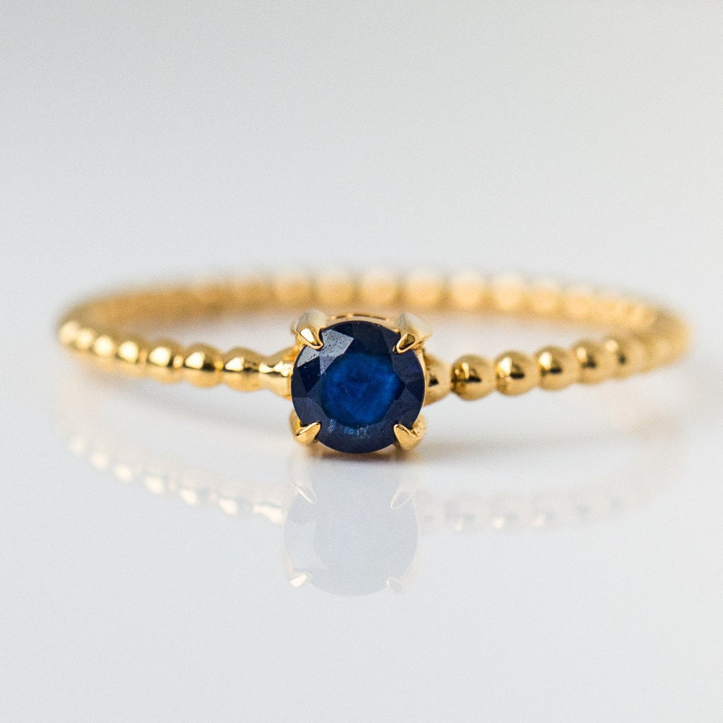 september birthstone jewelry, sapphire beaded birthstone ring