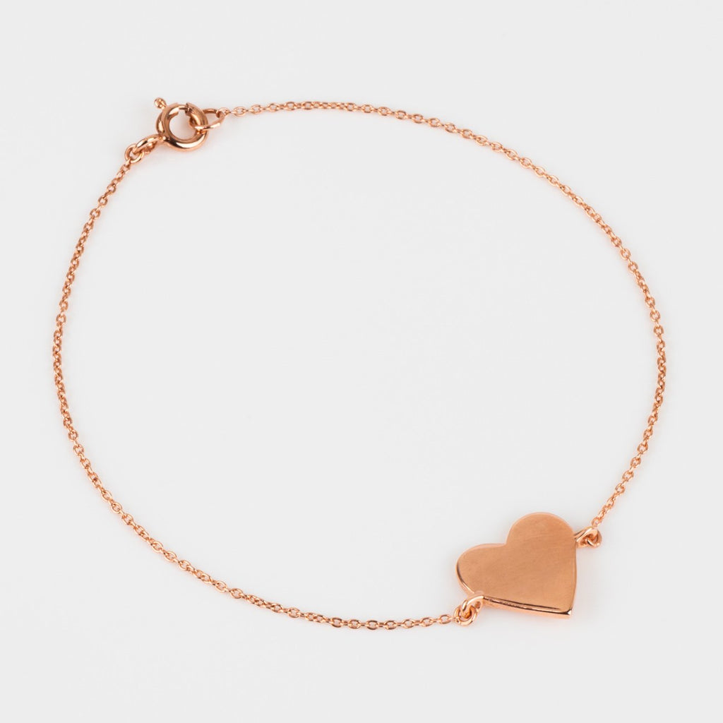 simple modern heart bracelet rose gold unique jewelry