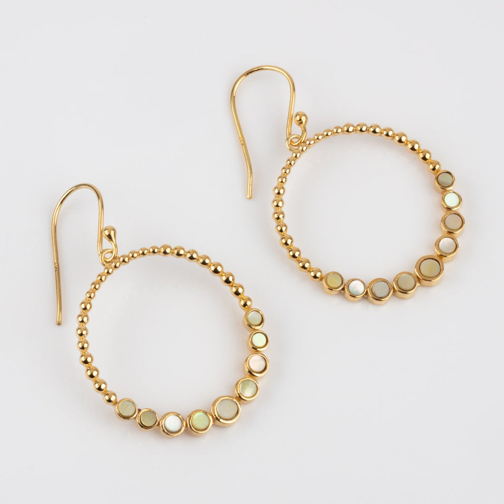 Pearl Halo Hoop Earrings