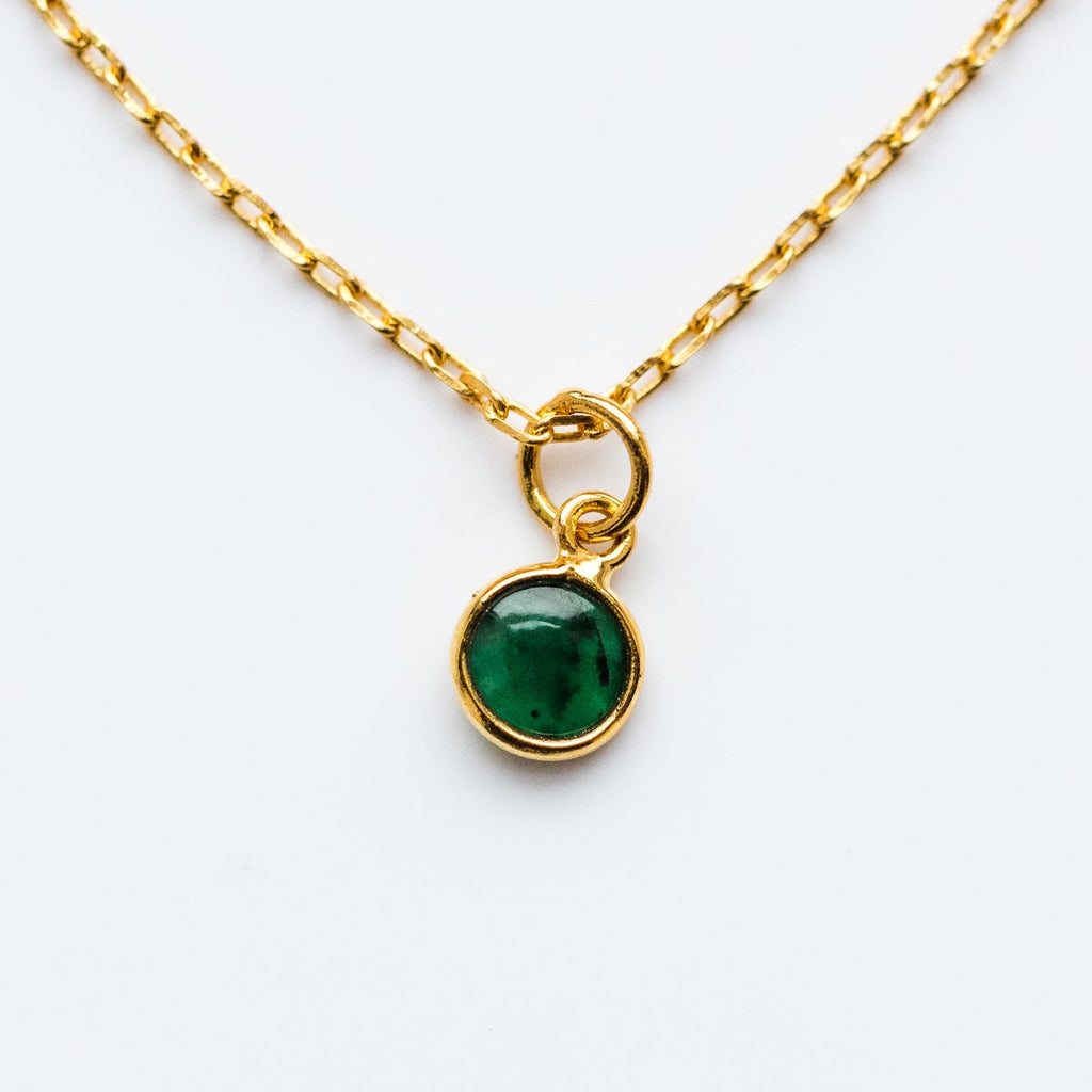 May Birthstone Necklace, Emerald Necklace