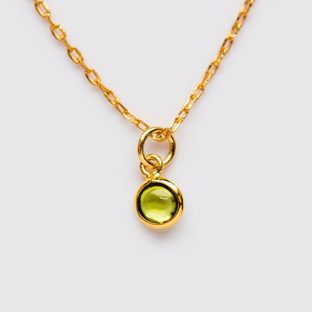August Birthstone Necklace, Peridot Necklace