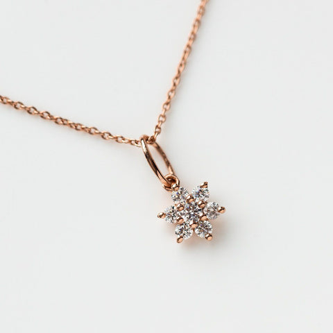 dainty flower necklace rose gold necklace pendant unique floral jewelry