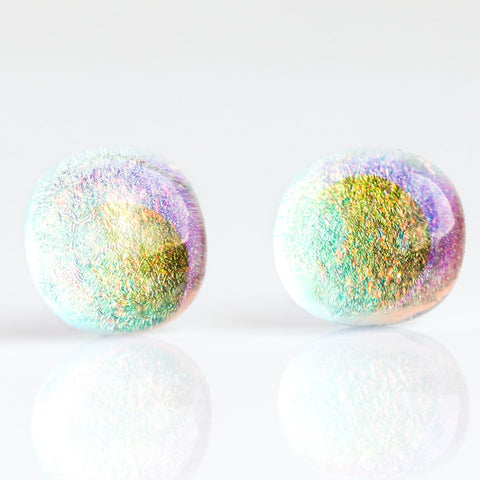 Glass Bubble Studs in Fairy Dust - earrings - Luminosity local eclectic