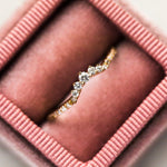 14K Petite Diamond Tiara Ring with Pave Band - rings - LUMO local eclectic