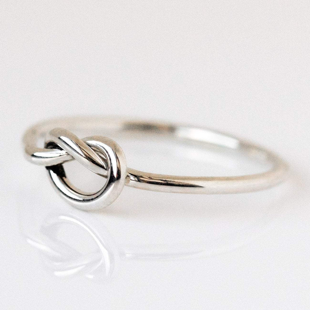 Sterling Silver Forget Me Knot Handmade Ring LUMO Dainty Modern Jewelry