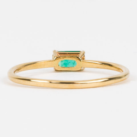 Emerald Octagon Ring - rings - LUMO local eclectic