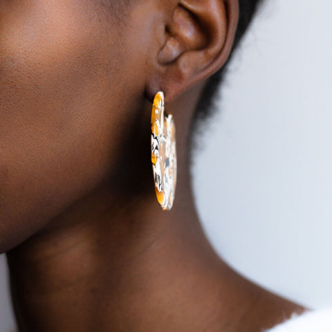 Clare Earrings in Calico