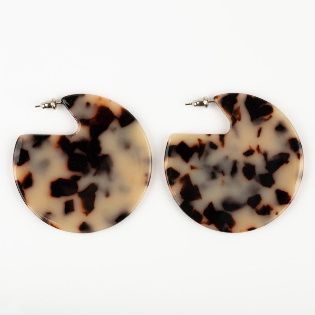Clare Earrings in Ash Blonde Tortoise