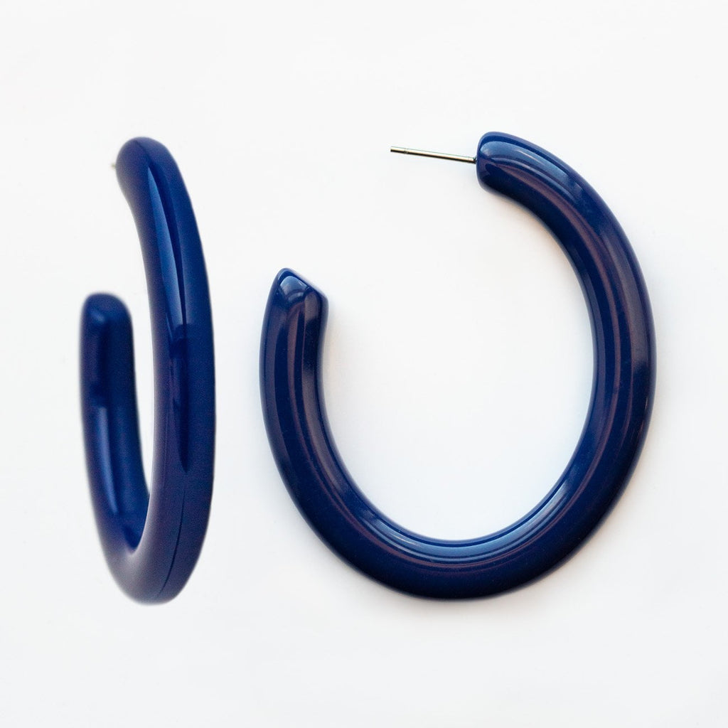 Form Hoops in Parisian Blue