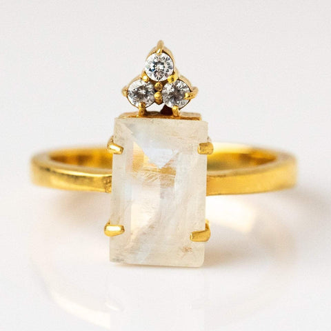 Mireya Cocktail Ring with Moonstone
